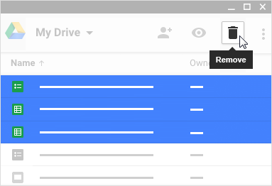 Google Drive – Deleting Your Stored Files